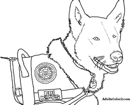free coloring pages of police and dog