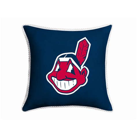 cleveland indians comforter cleveland indians mlb microsuede 18 quot toss pillow