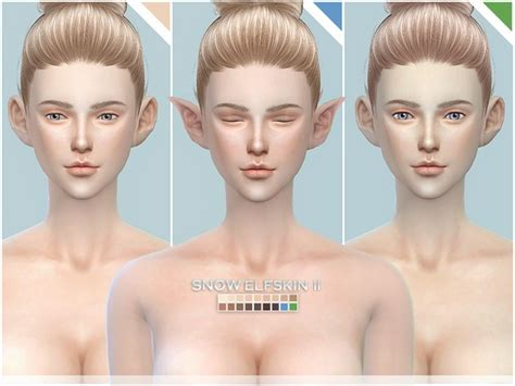 mod the sims sims 4 skins snow elf skintones all age ii by s club at tsr 187 sims 4