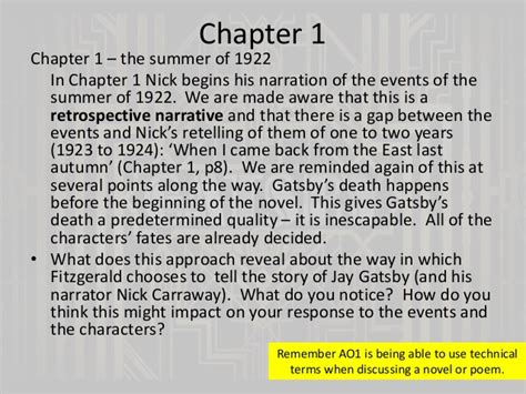 themes great gatsby chapter 1 the great gatsby chapter 1