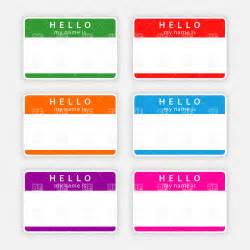 colored tags color name tags with shadow vector clipart image 12773