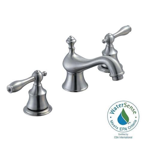 Glacier Bay Bathroom Fixtures Glacier Bay Estates 8 In Widespread 2 Handle Low Arc Bathroom Faucet In Brushed Nickel 67276