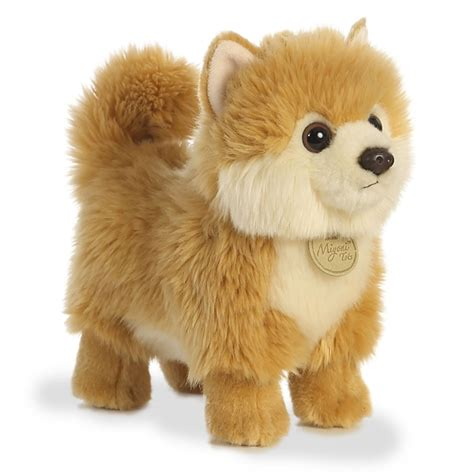 stuffed pomeranian realistic stuffed pomeranian puppy 9 inch plush by