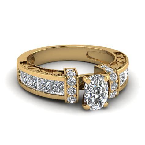 14k yellow gold fascinating diamonds