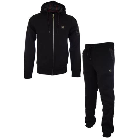 Paolo Moschino by Cruyff Clothing Dukes Kyle Cotton Hooded Black Tracksuit