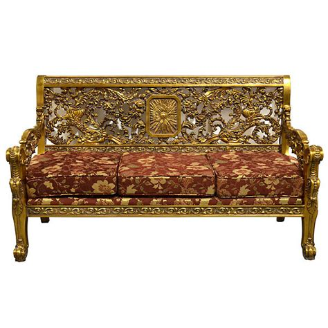 long settee gothic gold ornate carved gided versailles settee 67 long