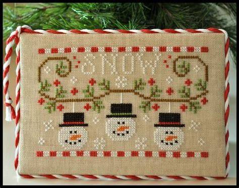 Country Cottage Needlework by Country Cottage Needleworks Snowmen Trio Sweet Cross