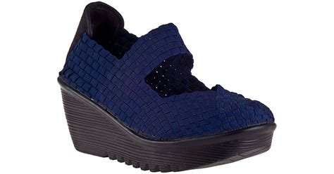 New Lulia Vs3219 Blue bernie mev lulia wedge navy fabric in blue lyst