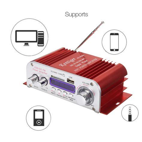 Hi Fi Stereo Lifier Speaker 2 Channel 20w kentiger hy3006 2 channel hi fi audio stereo mini lifier car home mp3 usb fm sd w remote 12v