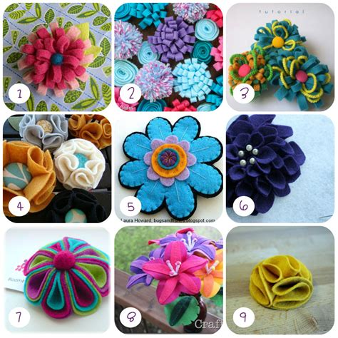 fiori di feltro schemi 9 tutorial di fiori in feltro