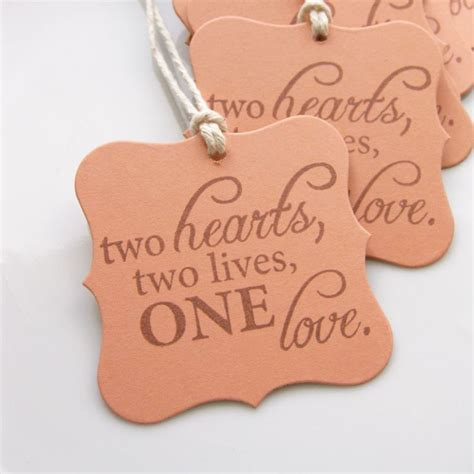 quotes to put on bridal shower favors wedding tags quote set of 8 custom colors