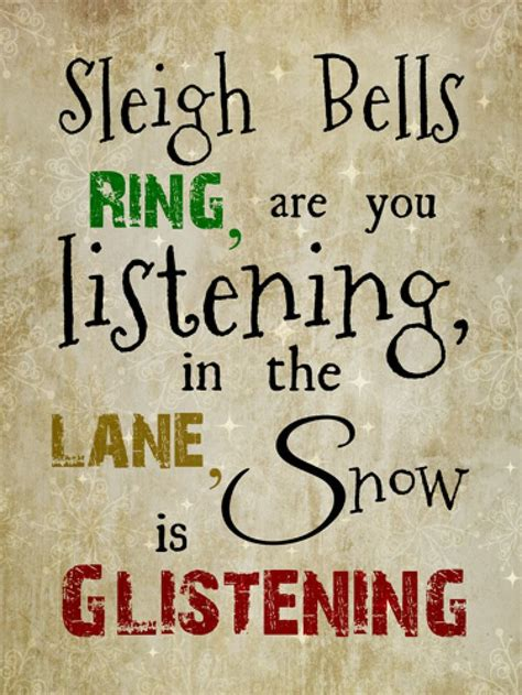 christmas bell quotes and captions sleigh bells ring are you listening sayings