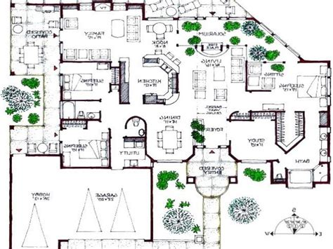 Modern Mansion Floor Plan | 3d house floor plans modern house floor plans