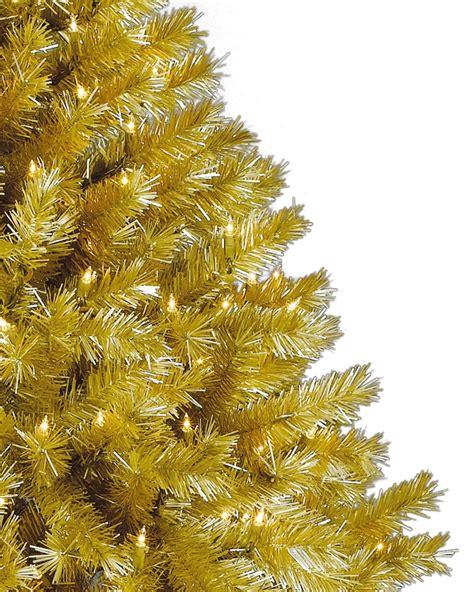 Green Decorations For Home toasted champagne gold tinsel artificial christmas tree