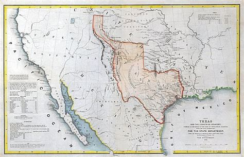 the republic of texas map the republic of texas 1844 map