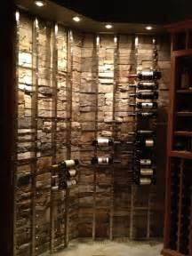 custom cellar with wineracks wood and metal racks