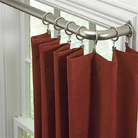 bow window curtain pole double curtain rods double bow window curtain rods ikea