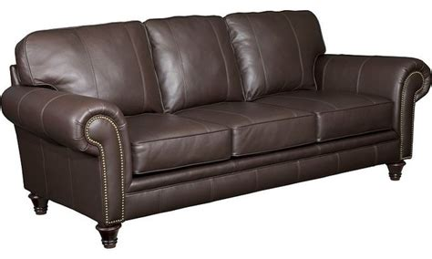 broyhill leather couch broyhill bromley leather sofa l497 3 traditional