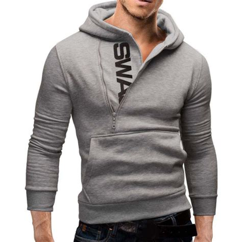 mens hoody sweater hoodie coat jacket sweatshirt jumper tracksuit top slim fit ebay