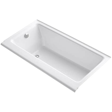 cast iron drop in bathtub sterling lawson 5 ft rectangular drop in reversible drain