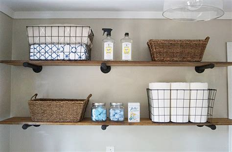 Diy Laundry Room Storage Ideas Pipe Shelving Diy Laundry Room Storage