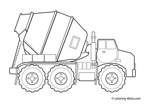 concrete truck coloring page concrete truck transportation coloring pages for kids