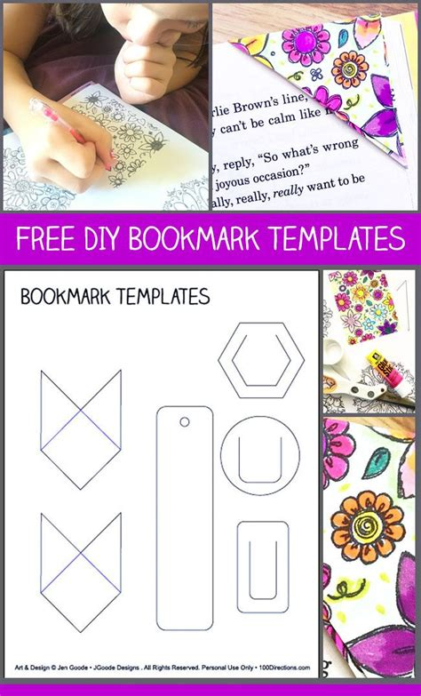 The 25 Best Ideas About Bookmark Template On Pinterest Printable Book Marks Cool Bookmarks Diy Bookmarks Templates
