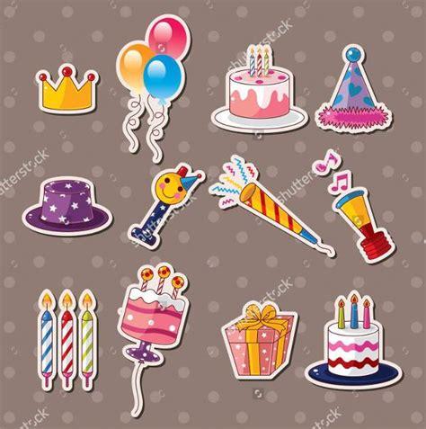 happy birthday sticker design 45 sticker designs design trends premium psd vector