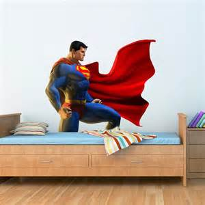 Superman Wall Sticker Superman Wall Decal Printed And Die Cut Vinyl Apply In
