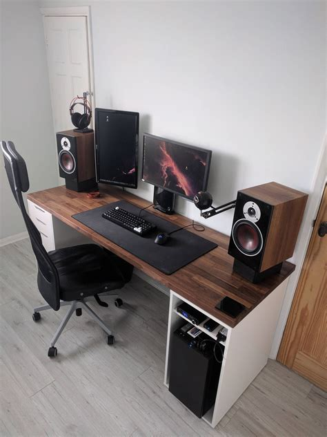 best ikea desk for gaming got a new desk bestgamesetups com pinterest desks