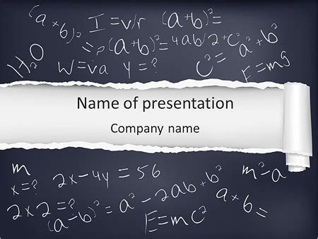 math formula powerpoint template backgrounds id