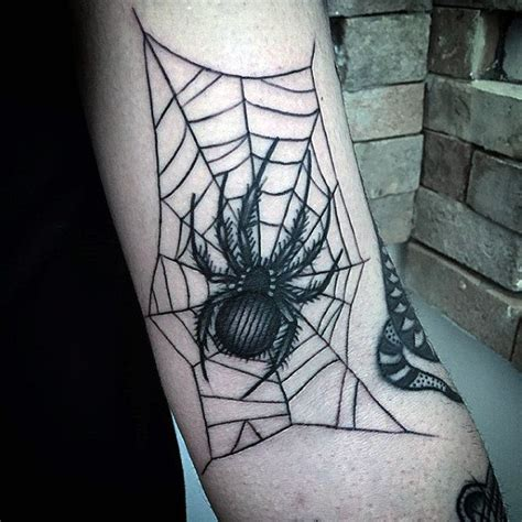 elbow spider web tattoo 80 spider web designs for tangled pattern ideas