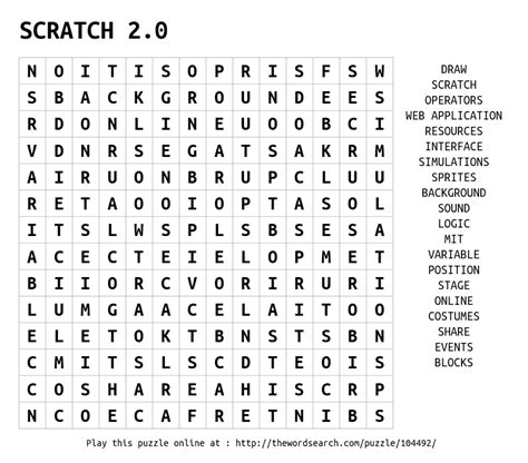 Find Search 2 0 Scratch 2 0 Word Search
