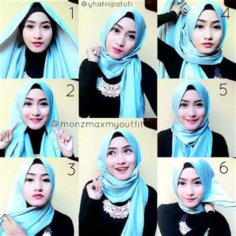 tutorial kerudung pesta mewah 1000 images about hijab terbaru fashion dan aksesoris on