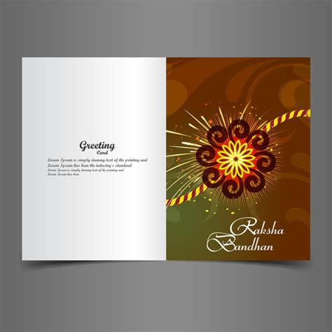 Greeting Card Templates For Raksha Bandhan by Rakhi Free Vector 169 Free Vector For