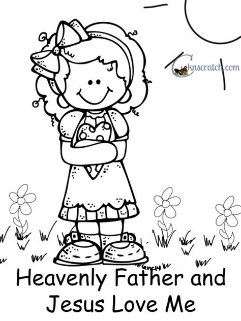 lds coloring pages heavenly father thank god for the joys of family life i by ezra taft