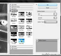 foto pattern adalah memberikan efek bintik pada foto menggunakan halftone