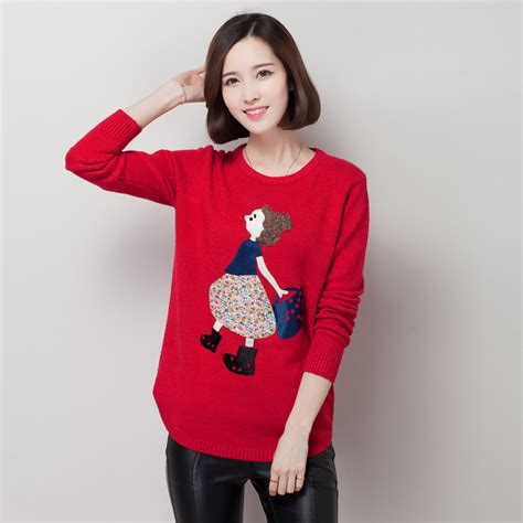 Cardigan Pull And sweater new 2016 and autumn plus size knitted sweater pull femme