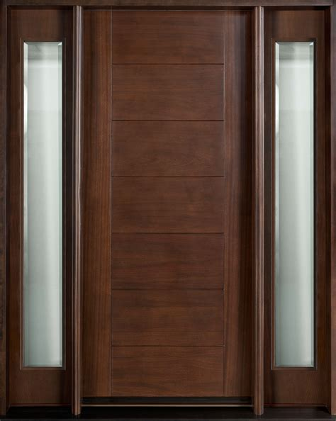 modern wood door entry door in stock single with 2 sidelites solid wood
