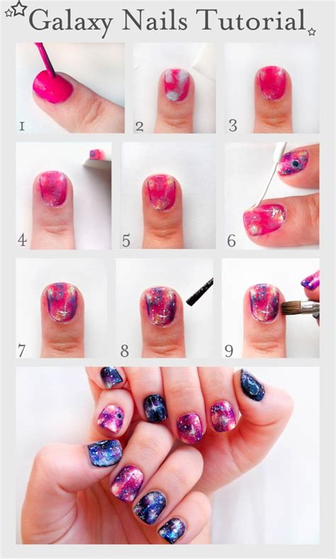 tutorial nail art sendiri 33 unbelievably cool nail art ideas galaxy nail design