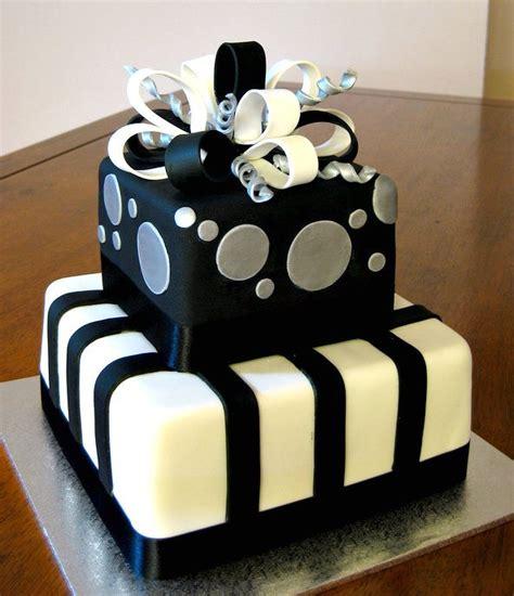 black and white birthday cake black silver present 30th birthday cake e b flickr