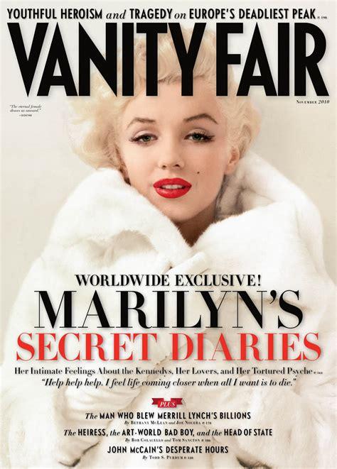 Who Owns Vanity Fair Magazine marilyn s secret diaries in vanity fair the marilyn