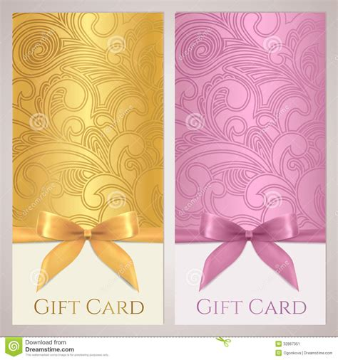 Gift Cards Coupon - gift certificate gift card coupon template stock image image 32867351