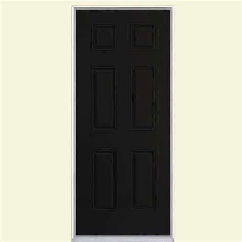No Panel Door by Masonite 36 In X 80 In 6 Panel Painted Smooth Fiberglass