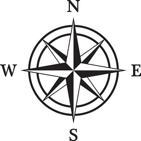 line drawing compass clipart best