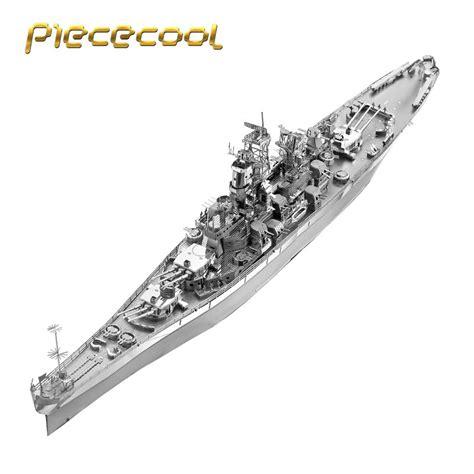 Model Kit 3d Metal Puzzle Uss Arizona piececool 3d metal nano puzzle uss missouri bb 63 warship model kits p096 s diy 3d laser cut toys