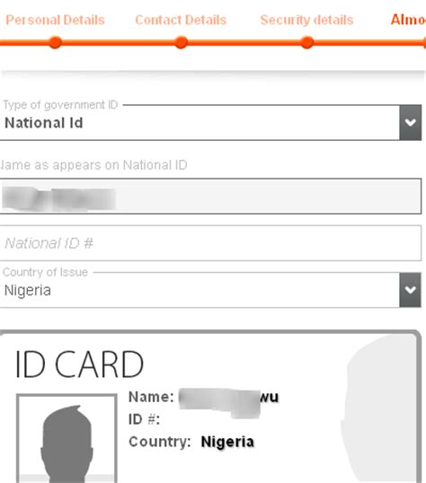 id card section complete guide on how to get payoneer card in nigeria