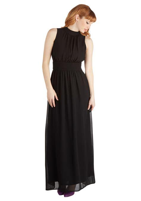 Dres Windi windy city maxi dress in black mod retro vintage dresses