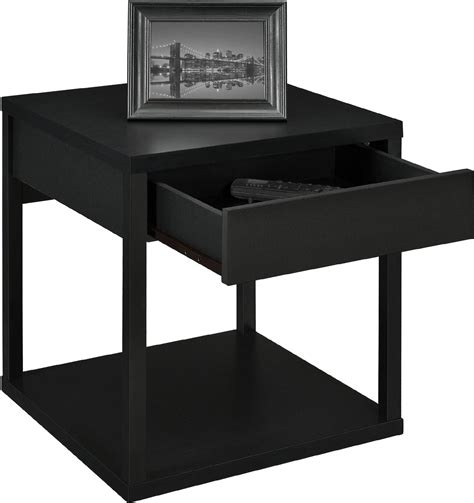 Black End Table With Drawer by Leick Chairside L Table With Drawer Antique Black