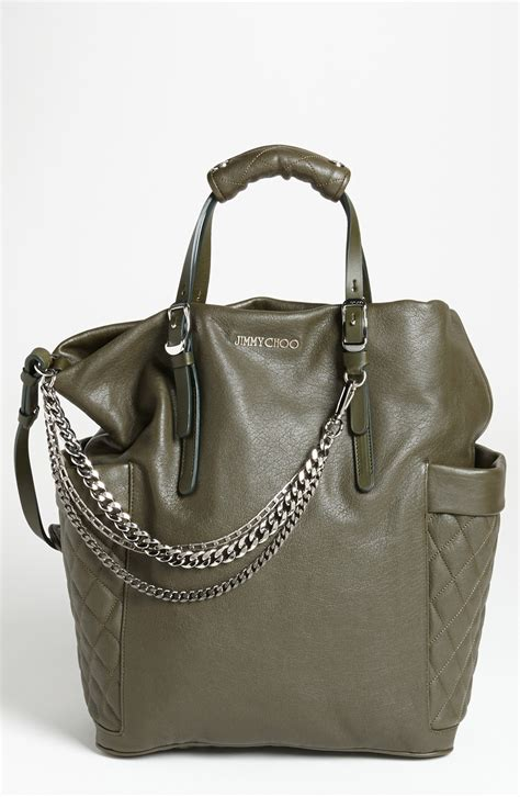 Jimmy Choo Belted Tote by Jimmy Choo Blare Leather Tote In Green Lyst